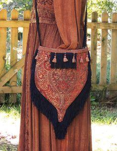tapestry bag purse bohemian bag purse hippie by allthingsoldarenew, $65.00