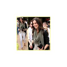 Odette Annable: 'Breaking In' on 'Extra' | Odette Annable : Just Jared found on Polyvore