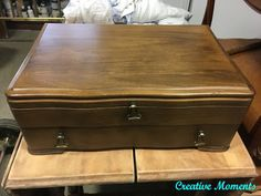 Chocolate Silverware Chest Beachy Colors, Pine Chests, Vintage Coffee, Decorating Blogs, Hope Chest, Storage Chest, Solid Wood, New Homes