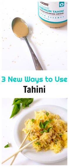 The most delicious way you've ever eaten spaghetti squash: Top with tahini and bake until tahini is bubbly! Plus, tips on cutting it in half easily and safely with out cutting off your finger! Side Dish Recipes, Veggie Recipes, Healthy Recipes, Yummy Recipes, Steak And Seafood, Dressing Recipe, Salad Dressing, Side Salad, Vegetable Side Dishes