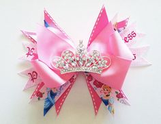 Hey, I found this really awesome Etsy listing at https://www.etsy.com/listing/180220275/hair-clip-cinderella-pink-disney