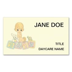160 best babysitting business cards images on pinterest business cute baby daycare center childcare double sided standard business cards pack of 100 flashek Gallery