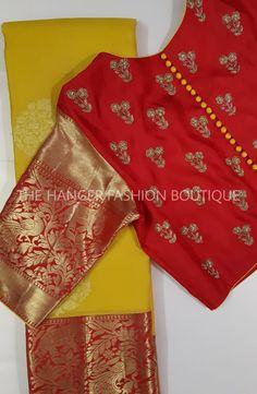 Hand Work Blouse Design, Simple Blouse Designs, Stylish Blouse Design, Blouse Neck Designs, Traditional Blouse Designs, Traditional Fashion, Cotton Saree Blouse Designs, Blouse Designs Catalogue, Designer Blouse Patterns