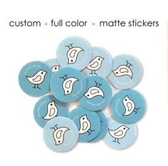 200 Custom Logo Stickers - Round 1 inch - Matte. $15.00, via Etsy.
