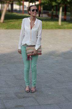 Another way to wear mint jeans
