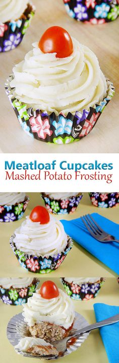Meatloaf Cupcakes with Mashed Potato Frosting. These make a great April Fool's Day prank recipe. Try to get your kids to guess what's inside before they dig in!