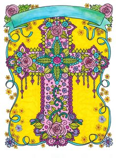 Coloring Book Of Crosses Christian Art To Color And Create Scripture Soothe The Soul Adult Colori