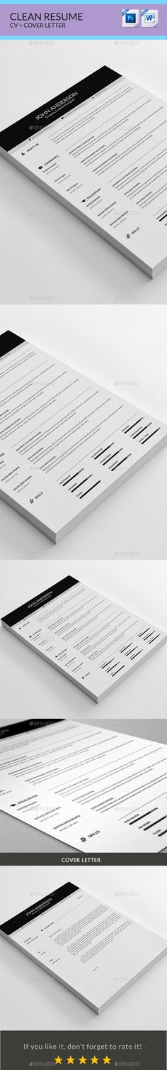 Resume Graphics, Fonts and Cv design - personal resume template