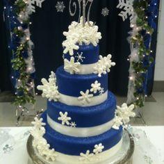 Blue Winter Wonderland cake granburycakes.com