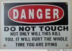danger sign hurt dying