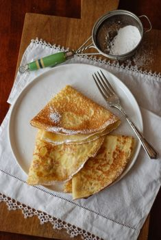 Simple, basic French crepes. Crepes are the perfect breakfast, the ...
