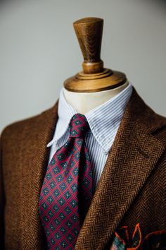 Rich, Autumnal Colours AW15 36oz Foulard Silk Tie available here