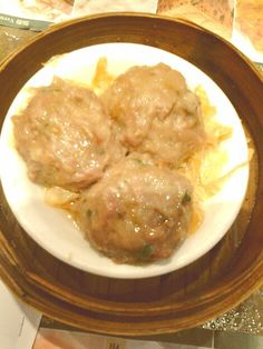 Beefballs with Orange Peel amd Beancurd Skin. From Tim Ho Wan