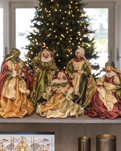 Celebrate the true spirit of the holidays with Balsam Hill's beautiful selection of Nativity Sets and Christmas Angles. Christmas Nativity Set, Christmas Jesus, Christmas Town, Miniature Christmas, Christmas Crafts, Merry Christmas, Christmas Decorations, Christmas Tables, Christmas Interiors