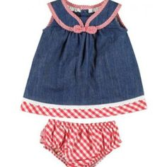 Mayoral Baby Girls Denim Dress with Pants