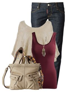 """""""Crossbody Bag"""" by colierollers ❤ liked on Polyvore featuring Dsquared2, Pieces, Boden, b.o.c. Børn Concept and Aéropostale"""