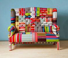 sofa colorido