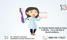 Do Regular Dental check-up every 6 months. For a Life free of Dental problems. Gum Health, Oral Health, Dental Health, Dental Care, Dental Check Up, Dental Problems, Root Canal, Healthy Teeth, 6 Months