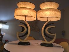 1950's DuBarry Boomerang Lamps