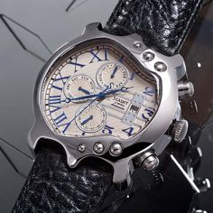 Stainless Steel Guitar Watch
