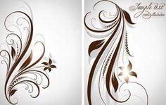Different Patterns of floral design vector 02 - Vector Frames ...
