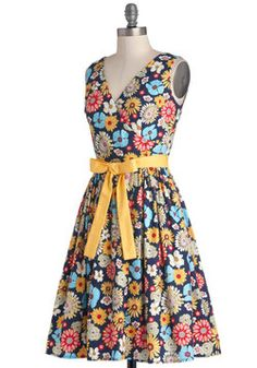 In the Key of Chic Dress in Floral, #ModCloth