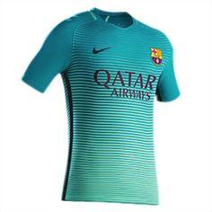 Tercera Equipacion Camiseta Barcelona 2016 2017 Qatar Airway
