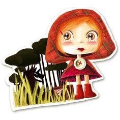 Autocollant Petit chaperon rouge - Mimi lutine