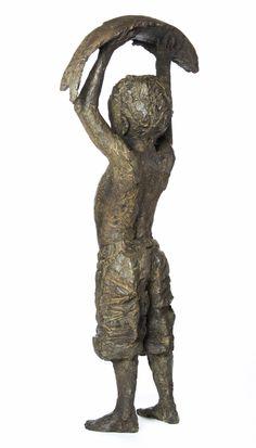 An original work by Toby Megaw entitled: Triumph!, bronze, h 102cm. For more please visit www.finearts.co.za Sculptures Céramiques, Sculpture Art, Clay People, Ceramic Texture, Bronze Sculpture, Installation Art, Wallpaper Backgrounds, Art For Kids, Folk Art