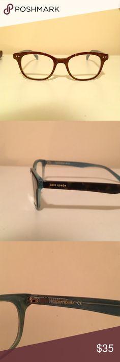 bfed1028e6 Kate Spade eye glass frames Kate spade tortoise eye glass frames with blue  inside. In