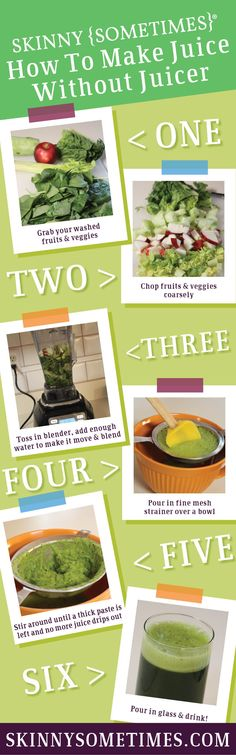 Step by step guide of how to juice without a juicer