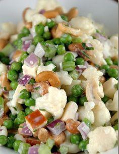 Pink Bites: Crunchy Salad with Buttermilk Ranch Dressing
