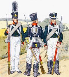 Granatieri e fucilieri della fanteria di linea russa