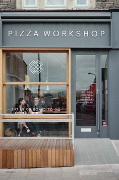 Pizza Workshop identity, by Moon in Bristol