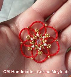 CM-Handmade: Ankars tatting rules for a simple pattern