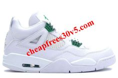 b8f15f3fa620f8 Air Jordan 4 Retro White Chrome Classic Green Men s Sneakers