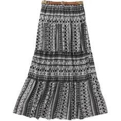 Women's Belted Tiered Skirt