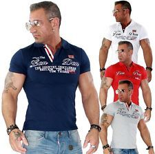 Herren Shirt T Shirt Polo Poloshirt Polohemd Slim Clubwear Style TOP NEU 16105 | eBay