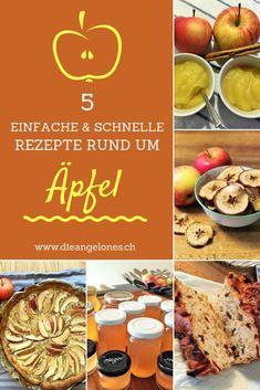 Äpfel gehören zu den beliebtesten Früchten überhaupt – auch bei Kindern. Daraus lassen sich einfach und schnell viele feine Dinge kochen und backen. Wie zum Beispiel eine Wähe, Apfelmus, Apfel-Chips, Apfelbrot oder Apfelgelee. In unserem Beitrag findet ihr 5 tolle und gelingsichere Rezepte. #Apfel #Wähe #Brot #Gelee #Chips #Mus #LaCucinaAngelone #DieAngelones Food, Pie, Family Friendly Recipes, Food Cakes, Sweet Recipes, Fast Recipes, Eten, Meals, Diet