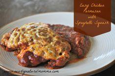 Easy Chicken Parmesan with Spaghetti Squash | stupideasypaleo.com