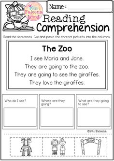 Free Reading Comprehension Cut and Paste March has 10 pages of reading comprehension with cut and paste. Children will answer the questions by cut and paste the correct picture into the question columns. Preschool | Preschool Worksheets | Kindergarten | Kindergarten Worksheets | First Grade | First Grade Worksheets | Reading| Reading Comprehension | Free Reading Comprehension Cut and Paste | Reading Comprehension Literacy Centers | Free Lessons | Worksheets