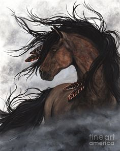 Smoke Majestic Horse Painting