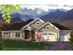 Ranch Home Plan with 1709 Square Feet and 2 Bedrooms from Dream Home Source   House Plan Code DHSW077584