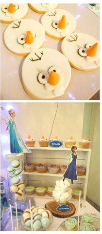 Treats at a Frozen Birthday Party!  See more party ideas at CatchMyParty.com!