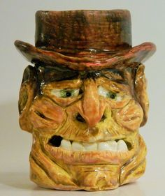 original handmade old man face mug by pottery artist mick foreman in Pottery & Glass, Collectibles | eBay