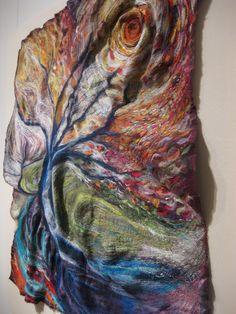 felting-and-embroidery creations of Michala Gyetvai aka Kayla Coo #fiber #textile_art #embroidery