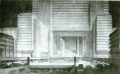 From Wikipedia: Hugh Ferriss was trained as an architect atWashington Universityin his nativeSt. Louis, Missouri, but, early in his career, began to specialize in creating architectural renderings for other architects' work rather than designing buildings himself. As a delineator, his task was to create a perspective drawing of a building or project. This was done … … Continue reading →