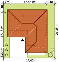 Sytuacja TP Kreo 2 CE One Floor House Plans, Dream House Plans, Modern House Plans, Floor Plans, Home Building Design, Building A House, Small House Design, Closet Designs, Facade House