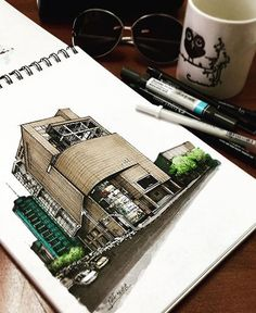 Love Drawing and Design? Finding A Career In Architecture - Drawing On Demand Architecture Sketchbook, Architecture Images, Architecture Portfolio, Landscape Architecture, Architecture Colleges, Victorian Architecture, Sketches Arquitectura, Building Sketch, Interior Design Sketches