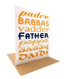 """Father in Many Languages"" --  Father's Day Card by OrangeTwist"